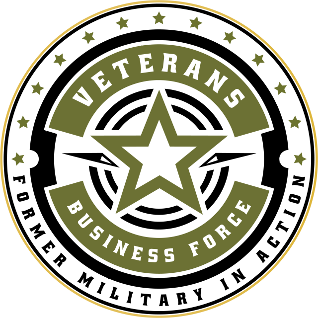 Veterans Business Force with Gold Ring Transparent Logo
